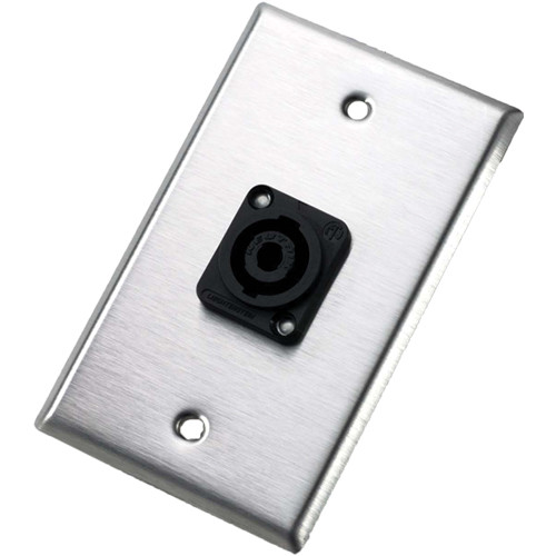 Neutrik 104L Single Gang Wallplate with Male Receptacle