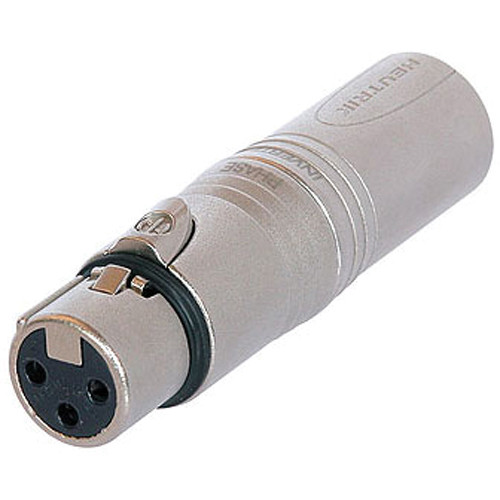 Neutrik NA3F5M 3-Pole XLR Female to 5-Pole XLR Male DMX Adapter