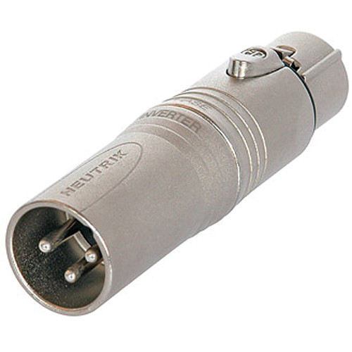 Neutrik NA3M5F 3-Pole XLR Male to 5-Pole XLR Female Adapter