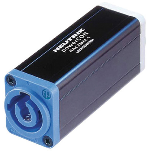 Neutrik powerCON NAC3MPA-1 to powerCON NAC3MPB-1 Coupler for Linking Cables