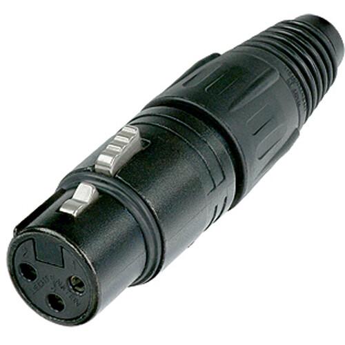 Neutrik NC3FX-B Three-Pin Female XLR Connector- Black