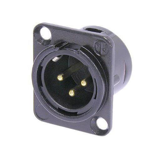 Neutrik NC3MD-L-B-1 Three-Pin Male XLR Connector (Black)