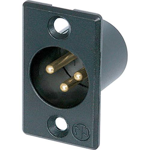 Neutrik 3 Pole Male Receptacle - Gold Solder Contacts
