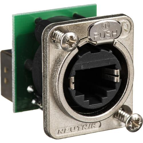 Neutrik NE8FDP - EtherCon-Series RJ45 Feedthrough Receptacle (Silver)