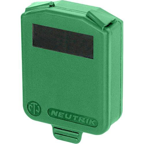 Neutrik Hinged Cover for D-Size Chassis-Green