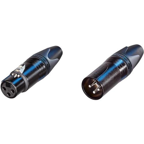 Neutrik XX Bag Series Male and Female XLR Connectors Kit (Black Housing/Silver Contacts)