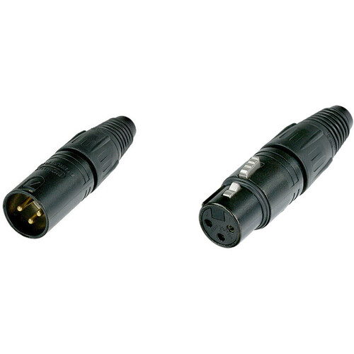 Neutrik X-Series Male and Female XLR Connectors Kit (Black Housing)