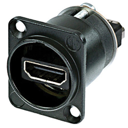 Neutrik HDMI 1.3 Feed Through Adapter D-Shape Housing IP65 (Black Chromium)