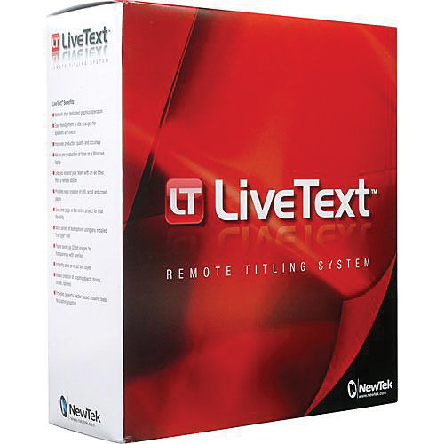 NewTek LiveText 2 for Tricaster Systems (Educational License)