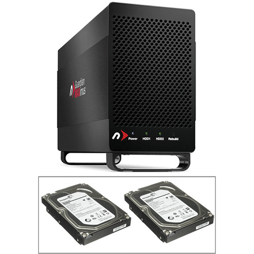 NewerTech Guardian MAXimus Enclosure Q 2-Drive RAID 1 & Two 3TB Hard Drive Kit