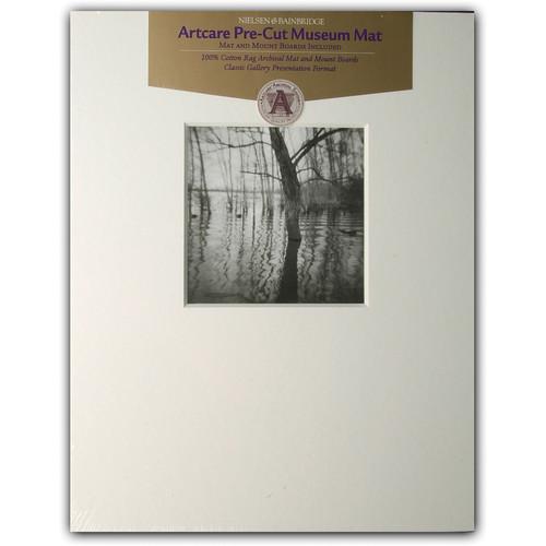 """Nielsen & Bainbridge Mat - Fits Gallery Frame, 11x14"""" Mat with 5x5"""" Opening"""