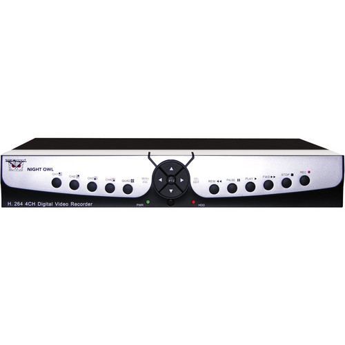 Night Owl Apollo 4-Channel H.264 DVR With D1 Recording (No Hard Drive)