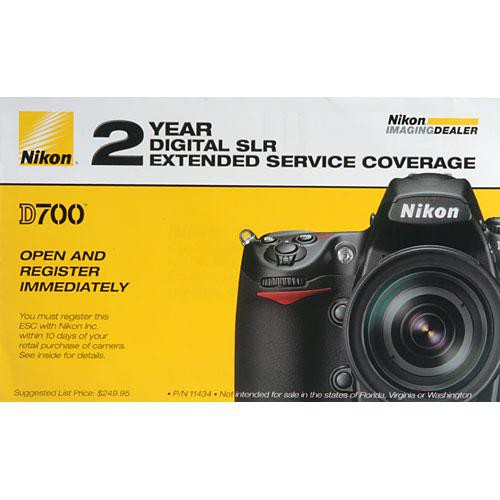 Nikon 2-Year Extended Service Coverage (ESC) for Nikon D700 Digital Camera