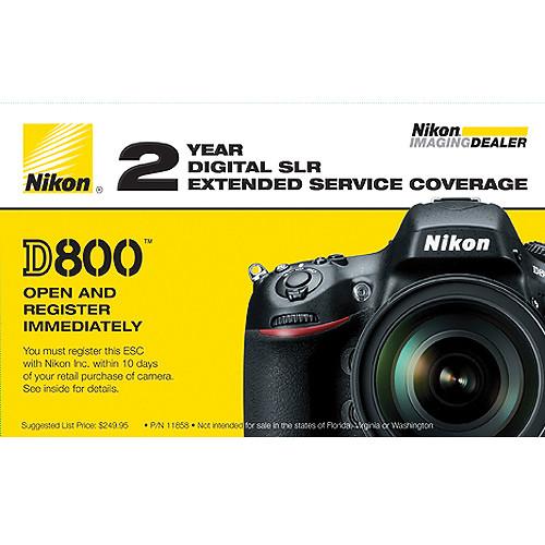 Nikon 2-Year Extended Service Coverage (ESC) for Nikon D800, D800E & D810 Digital Cameras