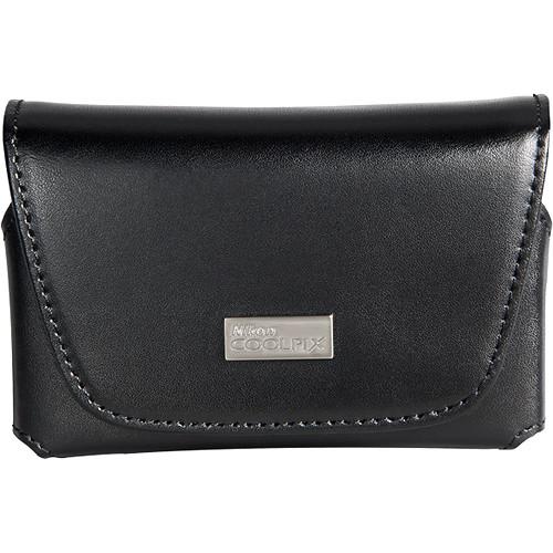 Nikon COOLPIX S Series Black Leather Case (Black)