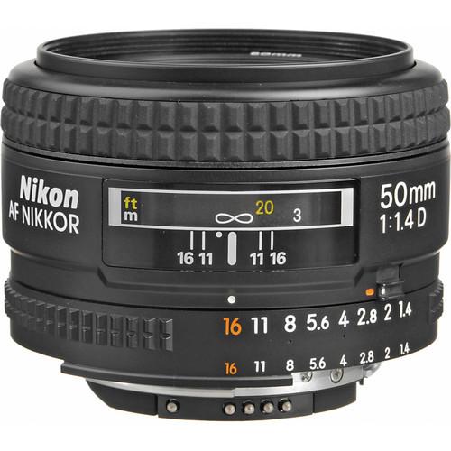 Nikon AF NIKKOR 50mm f/1.4D Lens (Refurbished)