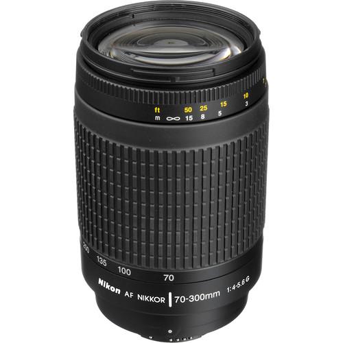 Nikon AF Zoom-NIKKOR 70-300mm f/4-5.6G Lens (Open Box)