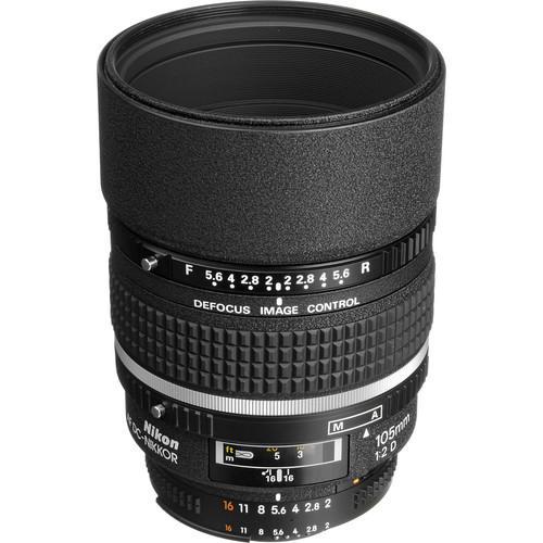Nikon AF DC-NIKKOR 105mm f/2D Lens (Refurbished)