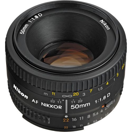 Nikon AF NIKKOR 50mm f/1.8D Lens (Refurbished)