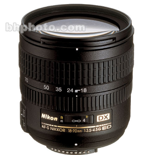 Nikon Zoom Super Wide Angle AF 18-70mm f/3.5-4.5G ED-IF AF-S DX Zoom-Nikkor Autofocus Lens for Digital Cameras