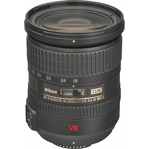 Nikon AF-S DX VR Zoom-NIKKOR 18-200mm f/3.5-5.6G IF-ED Lens (Refurbished)