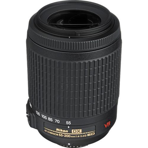 Nikon AF-S DX VR Zoom-NIKKOR ED 55-200mm f/4-5.6G IF-ED Lens (Refurbished)