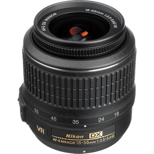 Nikon AF-S DX NIKKOR 18-55mm f/3.5-5.6G VR Lens (Refurbished)