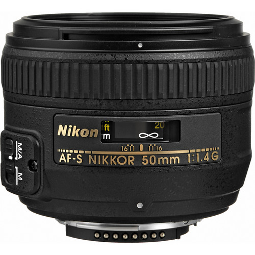 Nikon AF-S NIKKOR 50mm f/1.4G Lens (Refurbished)