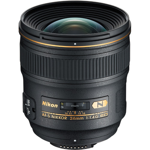 Nikon AF-S NIKKOR 24mm f/1.4G ED Lens (Refurbished)