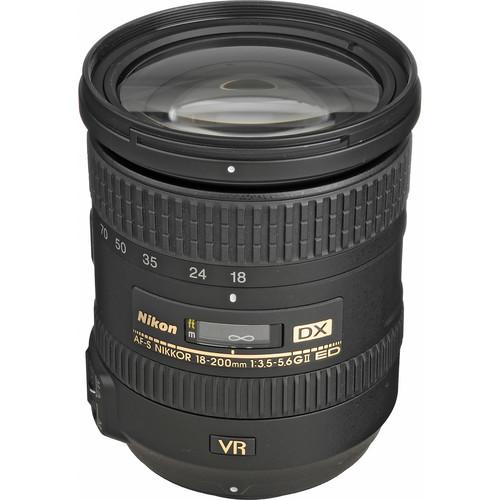Nikon AF-S DX NIKKOR 18-200mm f/3.5-5.6G ED VR II Lens (Refurbished)