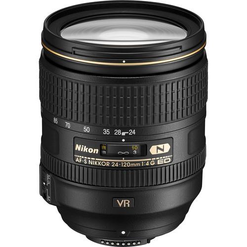 Nikon AF-S NIKKOR 24-120mm f/4G ED VR Lens (Refurbished)