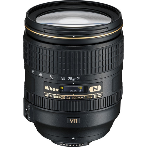 Nikon AF-S NIKKOR 24-120mm f/4G ED VR Lens (Refurbished)