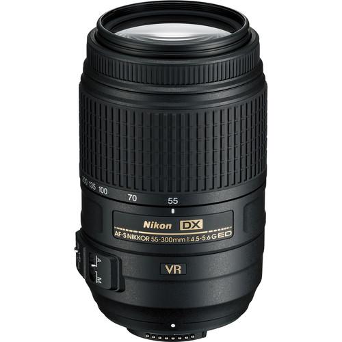 Nikon AF-S DX NIKKOR 55-300mm f/4.5-5.6G ED VR Lens (Refurbished)