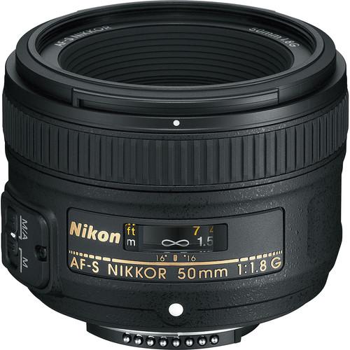 Nikon AF-S NIKKOR 50mm f/1.8G Lens (Refurbished)