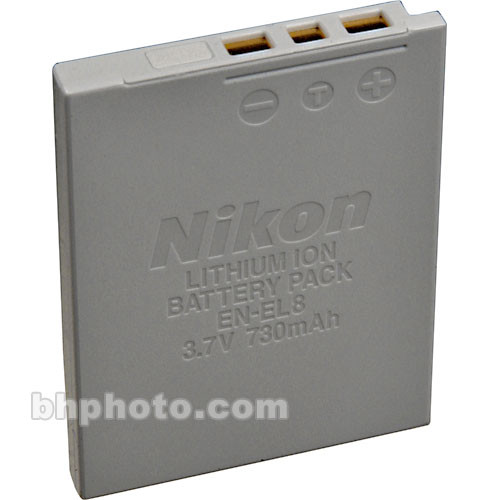 Nikon EN-EL8 Lithium-Ion Battery (3.7v 730mAh)