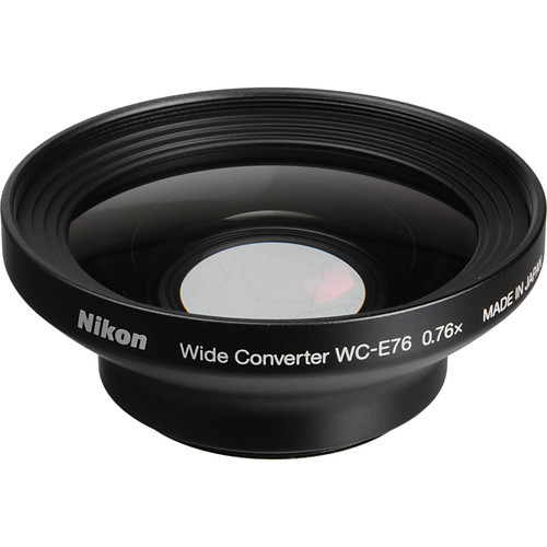 Nikon WC-E76 0.76x Wide-Angle Converter Lens for Nikon Coolpix P6000 Camera