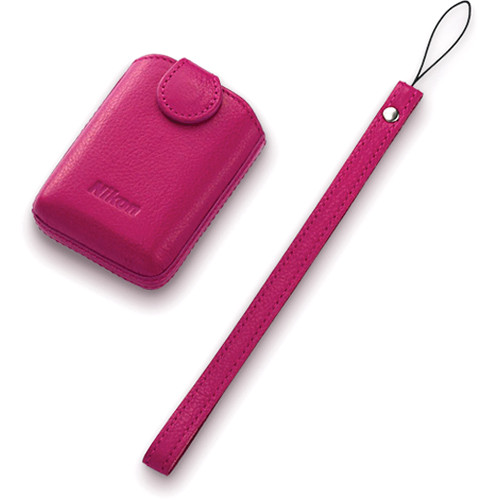 Nikon CS-CP4-1 Leather Case for the Coolpix S01 Digital Camera (Pink)