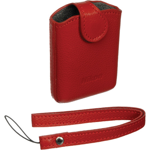 Nikon CS-CP4-1 Leather Case for the Coolpix S01 Digital Camera (Red)