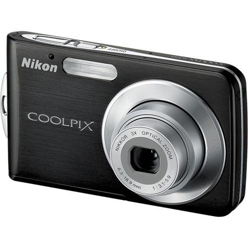 Nikon Coolpix S210 Digital Camera (Graphite Black)