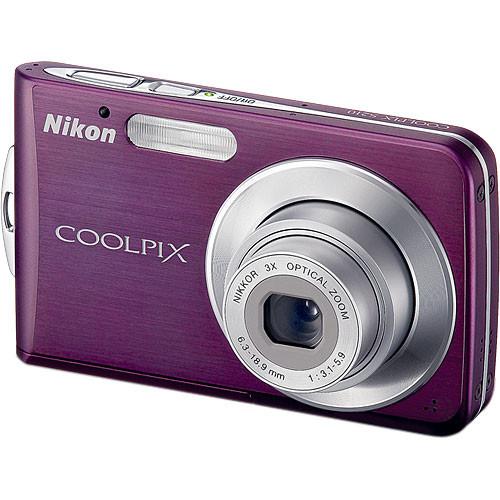 Nikon Coolpix S210 Digital Camera (Plum)
