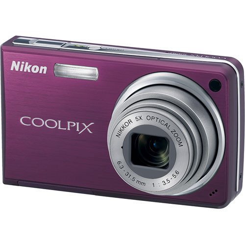 Nikon Coolpix S550 Digital Camera (Plum)