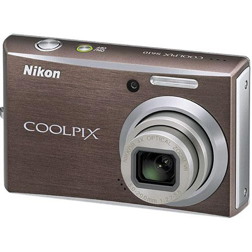 Nikon Coolpix S610 Digital Camera (Smoke Gray)