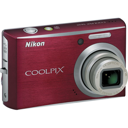 Nikon Coolpix S610 Digital Camera (Deep Red)