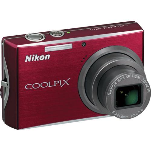 Nikon Coolpix S710 Digital Camera (Deep Red)