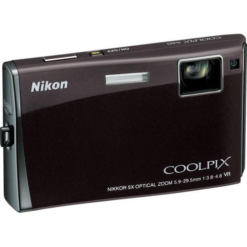 Nikon Coolpix S60 Digital Camera (Espresso Black)