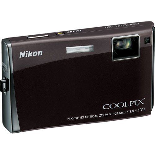 Nikon Coolpix S60 Digital Camera (Espresso Black)