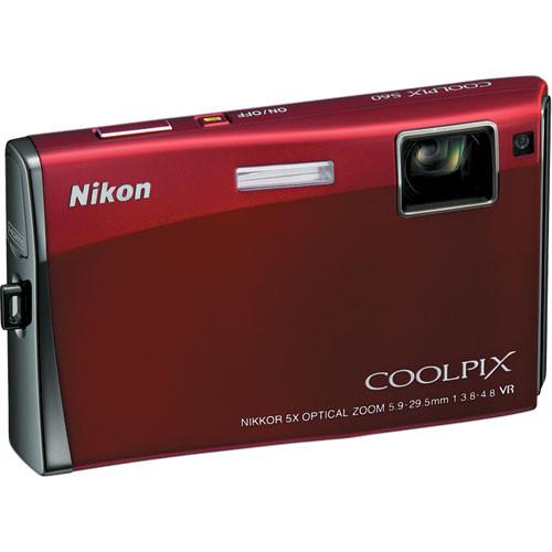 Nikon Coolpix S60 Digital Camera (Crimson Red)