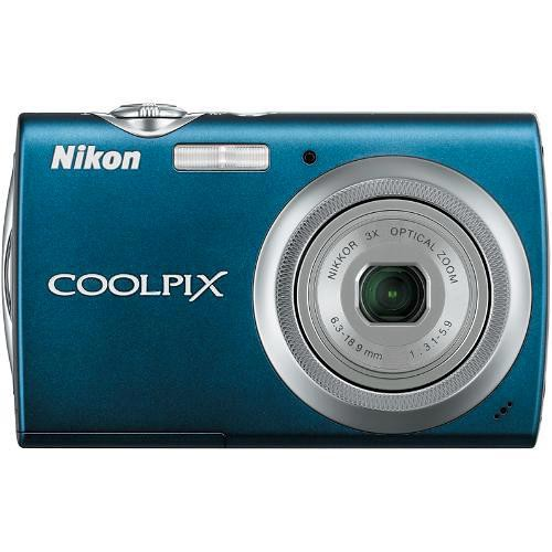 Nikon Coolpix S230 Digital Camera (Night Blue)