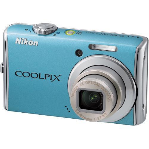 Nikon Coolpix S620 Digital Camera (Sky Blue)