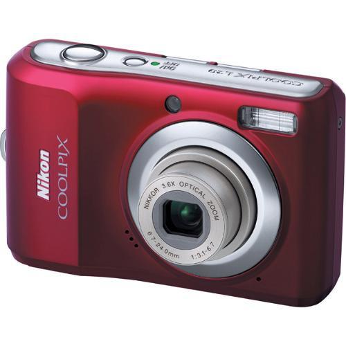 Nikon Coolpix L20 Digital Camera (Deep Red)